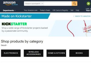 На Amazon появилась вкладка товаров с Kickstarter