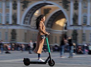 В России за год было совершено 55 млн поездок на самокатах